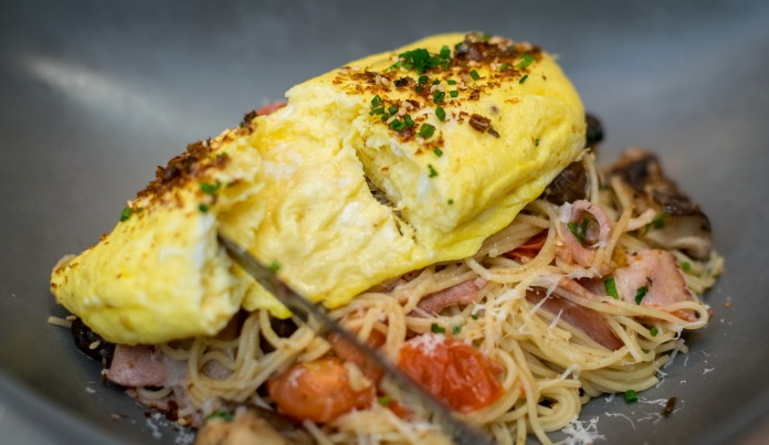 Vineyard at Hort Park — Big Breakfast Aglio Olio Pasta
