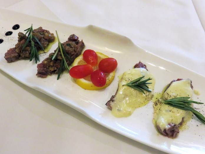 Trattoria Nonna Lina—Beef with Porcini Mushrooms and Gorgonzola Cheese