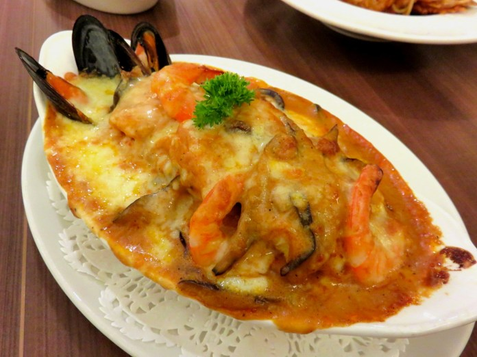 Swensen's - Fisherman's Catch Baked Rice