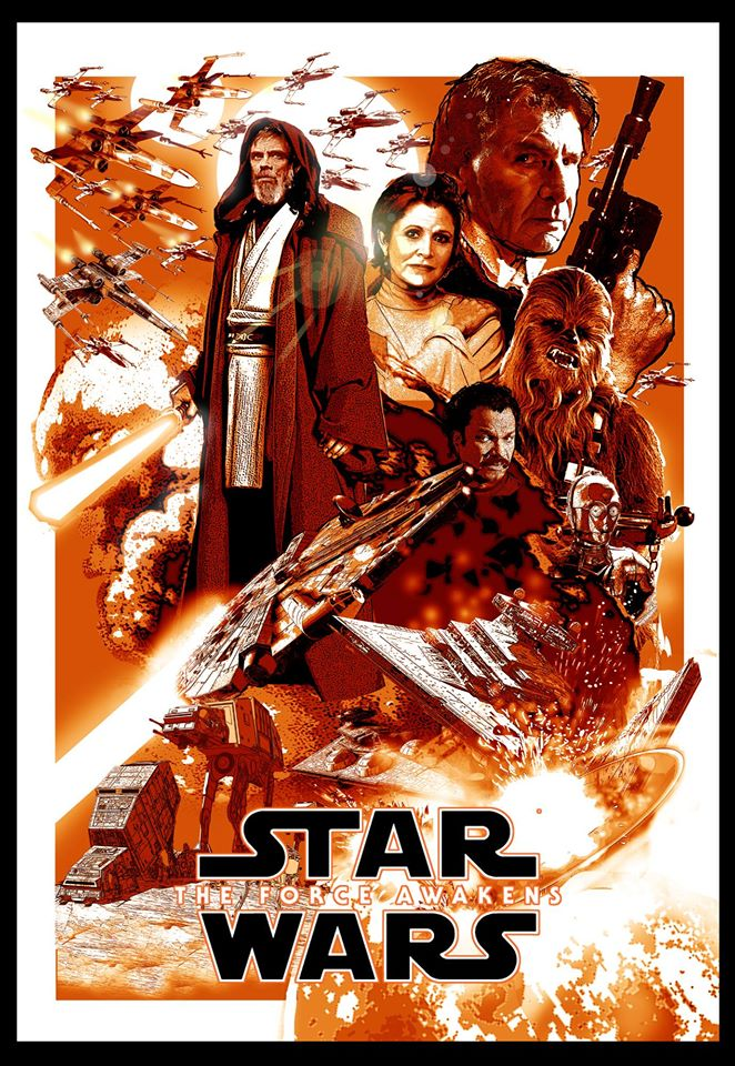 Star Wars The Force Awakens Poster Art