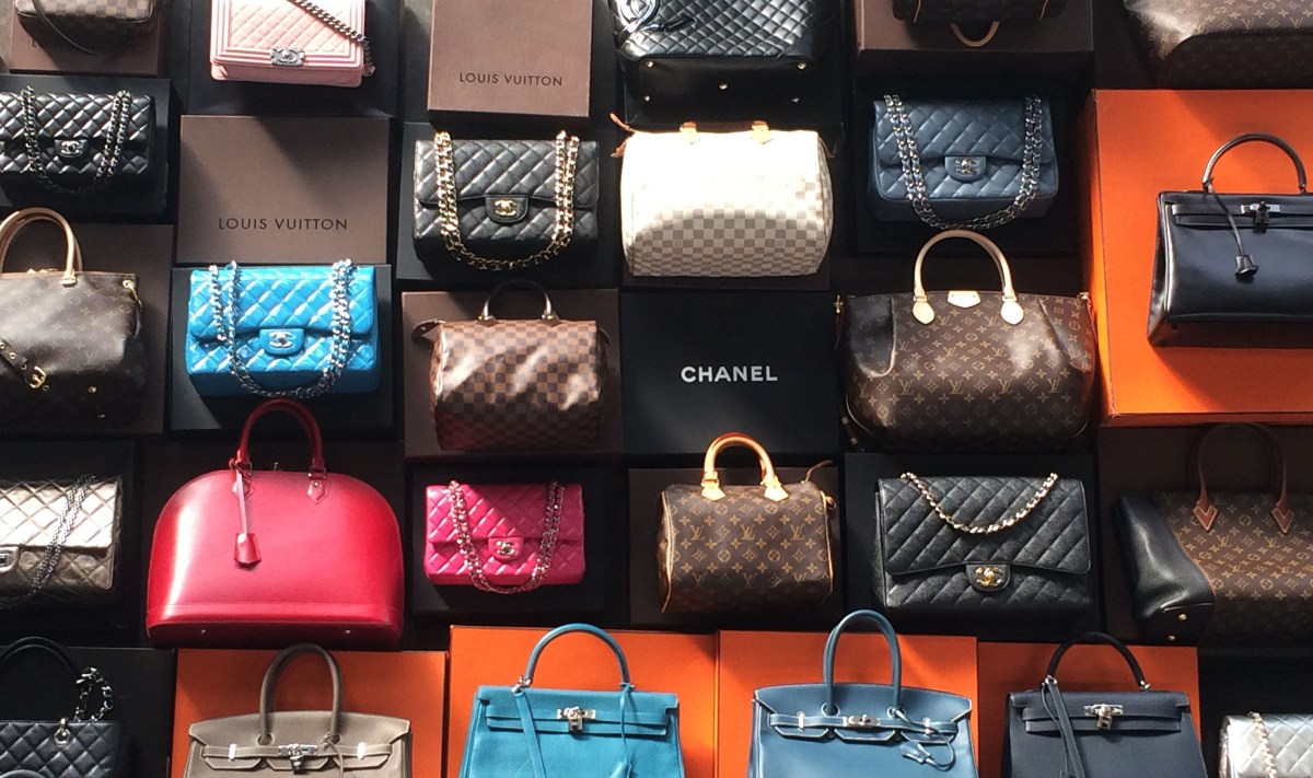 Louis Vuitton, Chanel and Hermes Designer Handbags