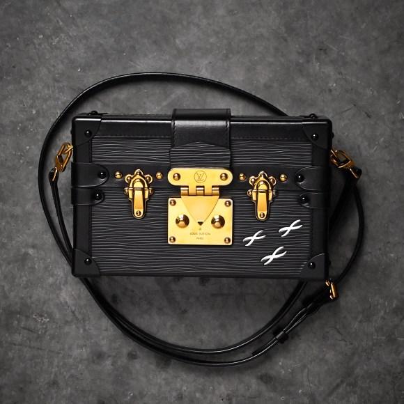 Louis Vuitton Black Epi Leather Petite Malle Clutch