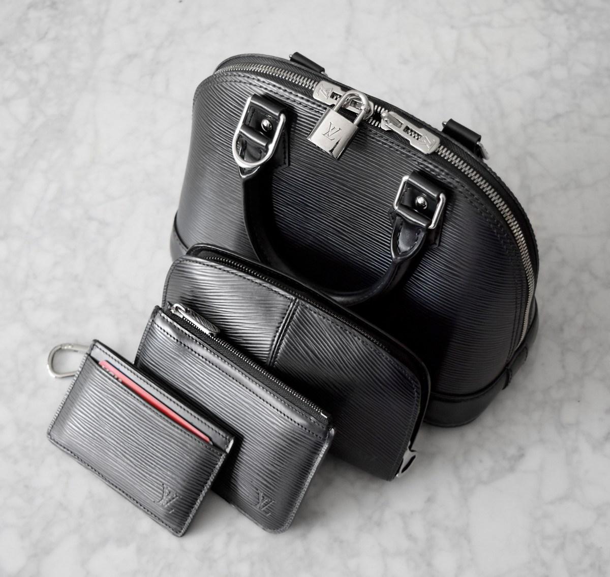 Louis Vuitton Epi Leather Alma BB and SLG Collection   CoffeeAndHandbags.com