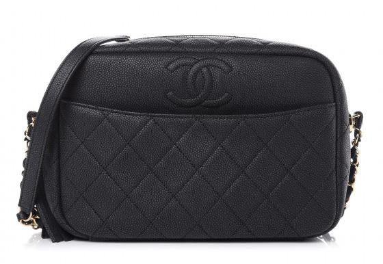 Chanel Caviar Medium Coco Tassel Camera Case Bag