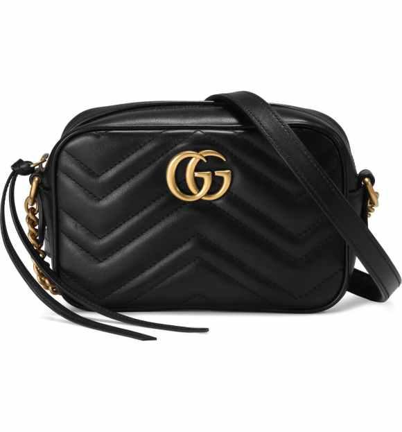 Gucci Black GG Marmont 2.0 Matelassé Leather Shoulder Bag