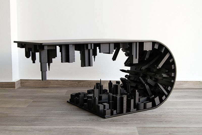 skyscraping modern coffee tables by