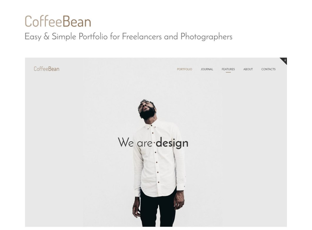 slide1 - CoffeeBean - Easy & Simple Portfolio for Freelancers, Studios and Photographers