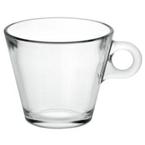 """6 ספלי קפה זכוכית 280 מ""""ל"""