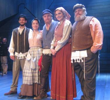 Some of the cast of Fiddler on the Roof