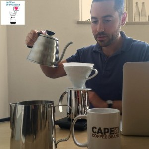 Phaedon pouring in Cape Coffee Beans Office