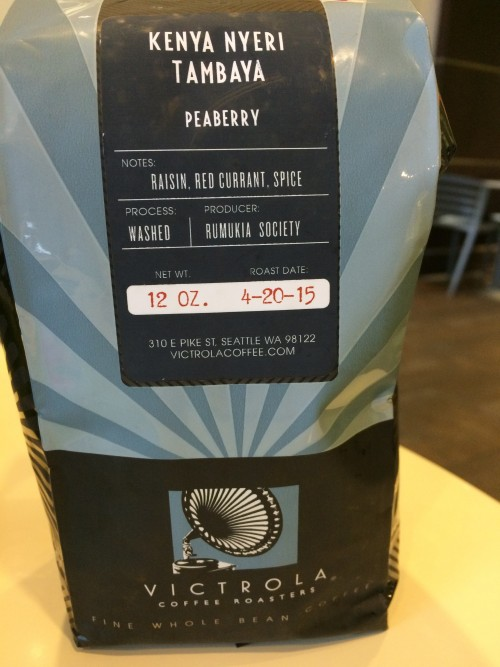 Review: Victrola Kenya Nyeri Tambaya Peaberry (Seattle, Washington)