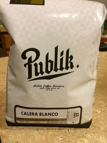 Review: Publik Coffee Roasters El Salvador Calera Blanco (Salt Lake City, Utah)