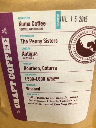 Review: Kuma Coffee Guatemala Finca La Folie (Seattle, Washington)