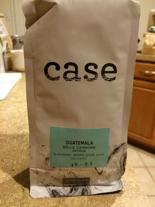 Review: Case Coffee Roasters Guatemala Bella Carmona Antigua (Ashland, Oregon)
