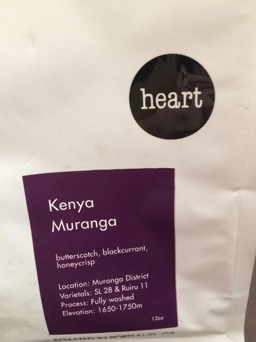 Review: Heart Coffee Roasters Kenya Muranga (Portland, Oregon)