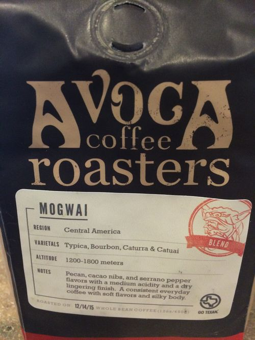 Review: Avoca Coffee Roasters Mogwai Blend (Fort Worth, Texas)