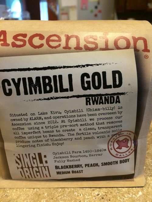 Review: Ascension Rwanda Cyimbili Gold (Dallas, Texas)