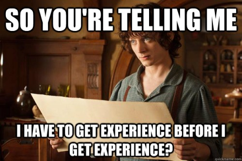 Huh? Experience before experience?!