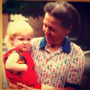 Me being sassy as my grandma holds me.