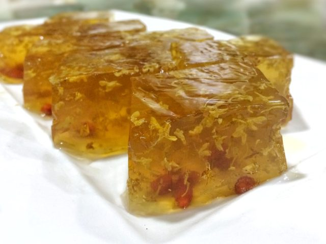 um Cha — Wolfberries and Osmanthus Jelly