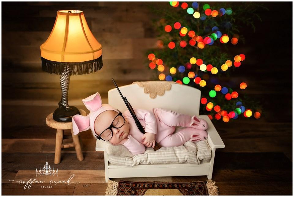 Christmas Story Newborn photo goes viral