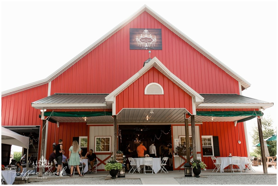barn venue wedding reception