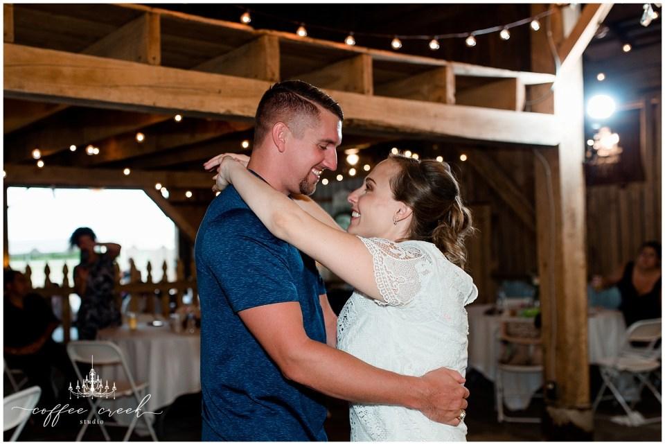 first dance at barn venue wedding receptions