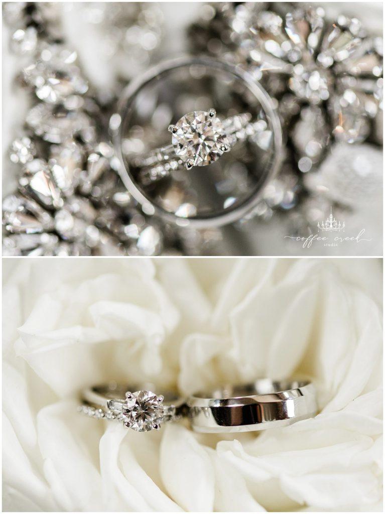 Rings at Laurel Hall Wedding
