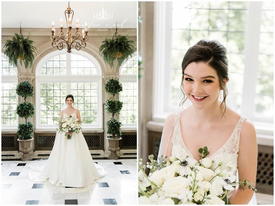 Bridal portraits at Laurel Hall Wedding