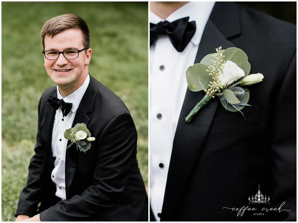Groom portraits at Laurel Hall Wedding