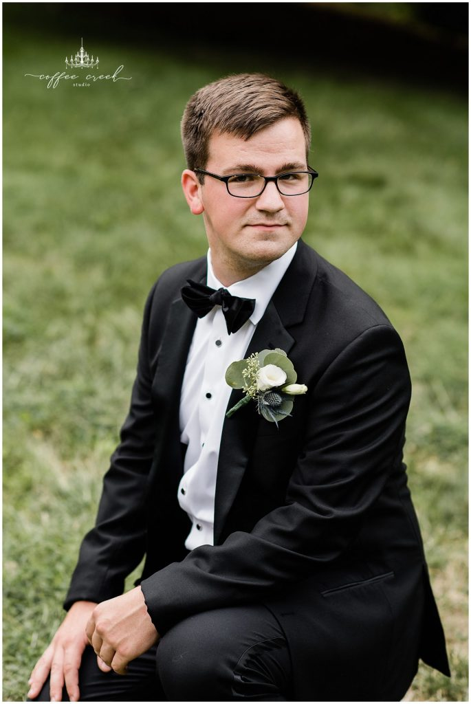 Groom portrait at Laurel Hall Wedding