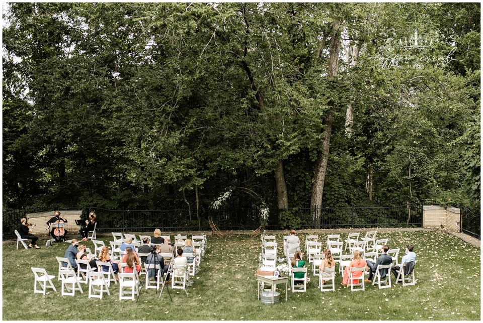 Ceremony site at Laurel Hall