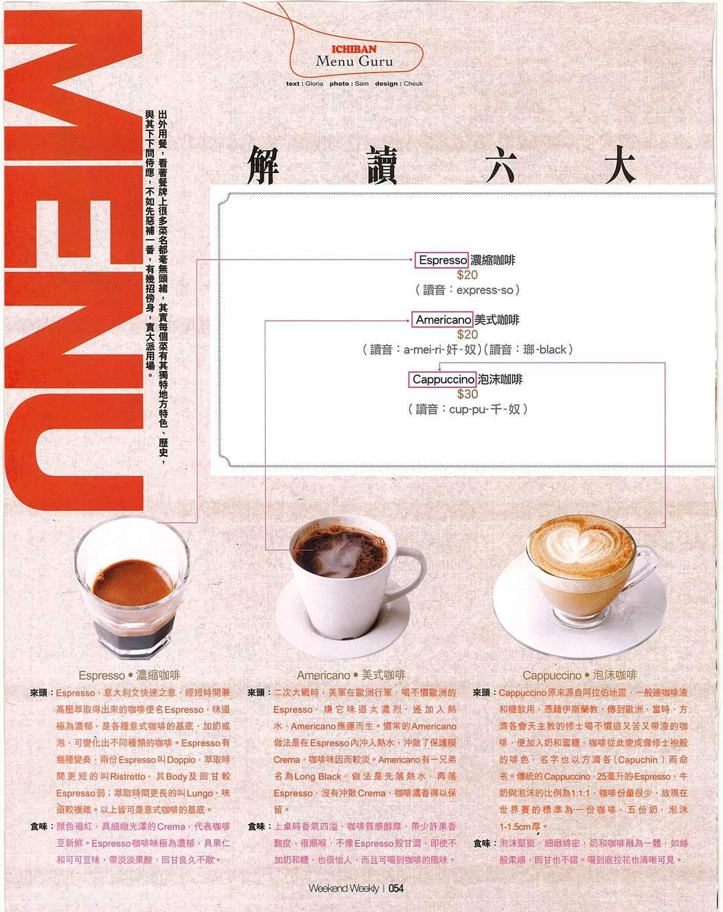 解讀六大咖啡種類 – 香港咖啡文化促進會