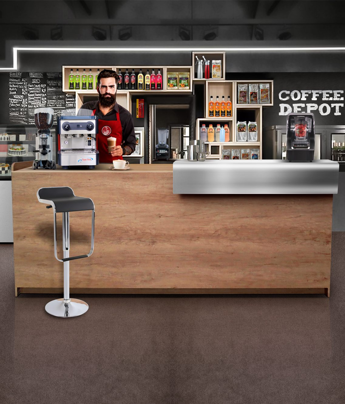 Muebles Para Una Cafeteria Modelo Success Coffee Depot