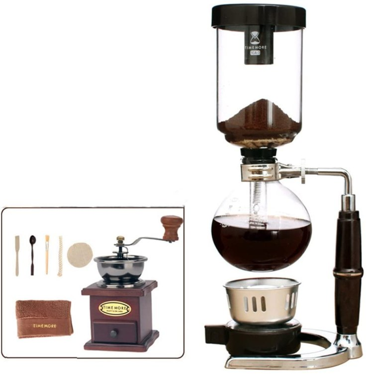 Manual coffee maker as gift for coffee lovers