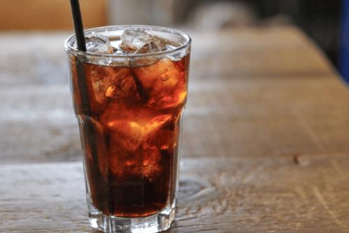 an iced americano coffee