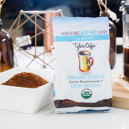 Tylers acid free organic ground coffee