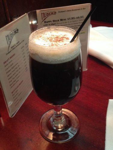 Original spanish coffee in huber's cafe