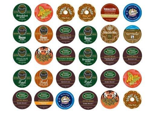 Single Serve Varieties Extra Bold Sampler Portion Pack for K-Cup Brewers