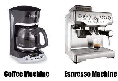 coffee machine and espresso