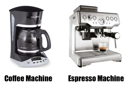 coffee vs espresso machine