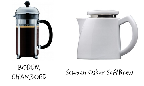 Bodum CHAMBORD vs Sowden Softbrew