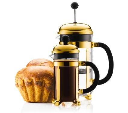 Bodum Chamboard French Press_Gold