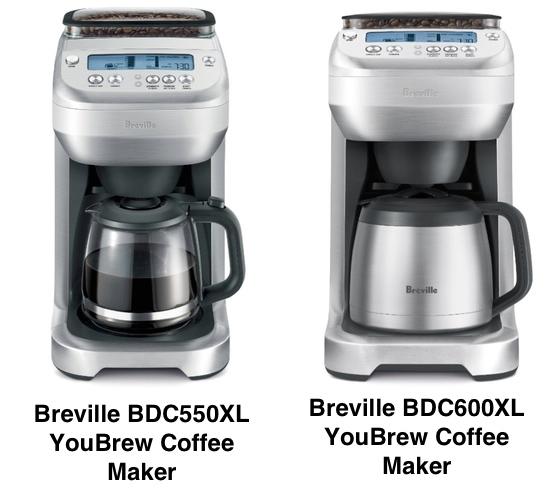 Breville YouBrew BDC550XL vs BDC600XL