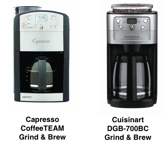 Capresso vs Cuisinart Grind and Brew