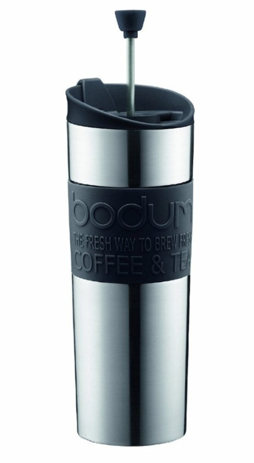 Bodum Insulated Stainless-Steel Travel French Press Coffee and Tea Mug