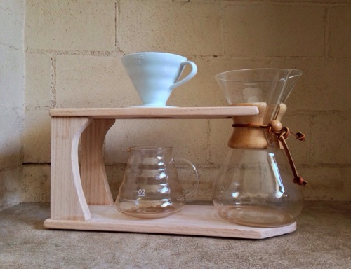 Oak Chemex & Pour Over Stand