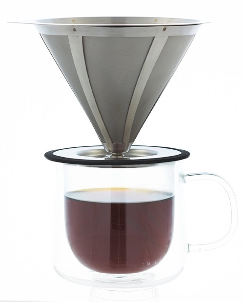 GROSCHE Ultramesh Ultra Fine 18_8 Stainless steel Micro Filter Pour Over Coffee Dripper