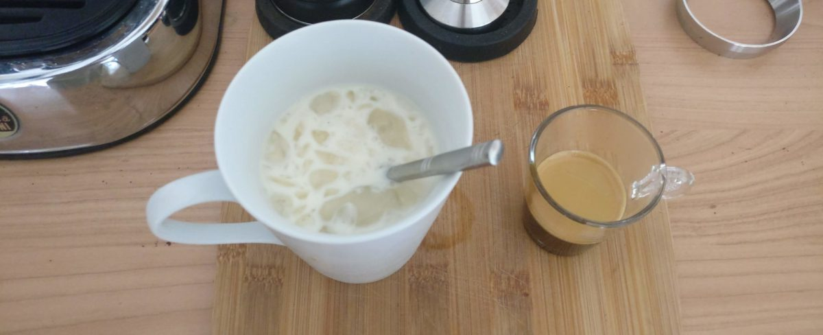 Coffee recipe: iced coffee with sweetened milk