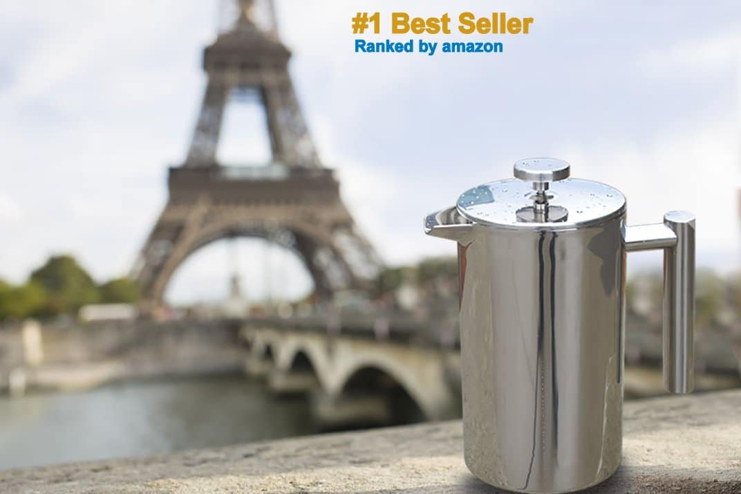 French Press Double-Wall Stainless Steel Mirror Finish Best Seller